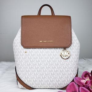 🌺NWT Michael Kors MD Hayes backpack bag Vanilla